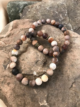 Wood Opalite / Fossilized Wood Bracelet