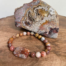 Crazy Lace Agate Focal Bracelet