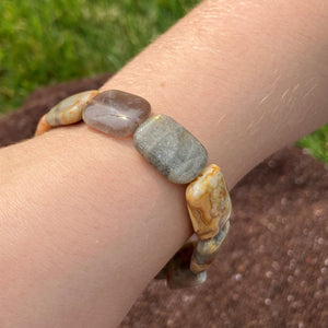 Bracelet #5 - Crazy Lace Agate and Labradorite