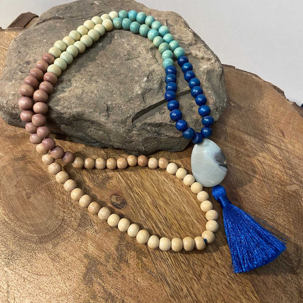 Wood Malas - Blue - Clearance