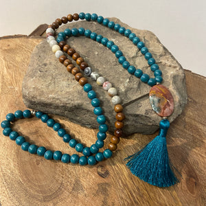Wood Malas - Teal