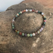Indian Agate Mini Bead Bracelet