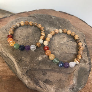 Pride Bracelet with Picture Jasper