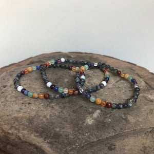 Pride mini bead with Labradorite