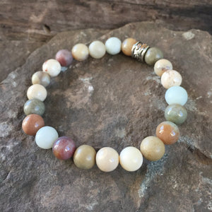 White African Opal and Fancy Jasper Bracelet