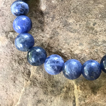 Sodalite 8mm bracelet close up