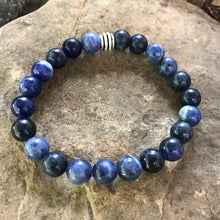 Sodalite 8mm bracelet with silver bead