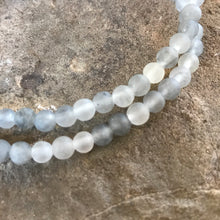 Cloud Quartz 4mm bracelet close up