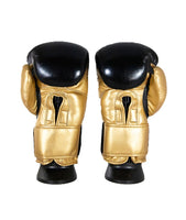 CruBox Authentic Black and Gold leather boxing gloves with limited edition design