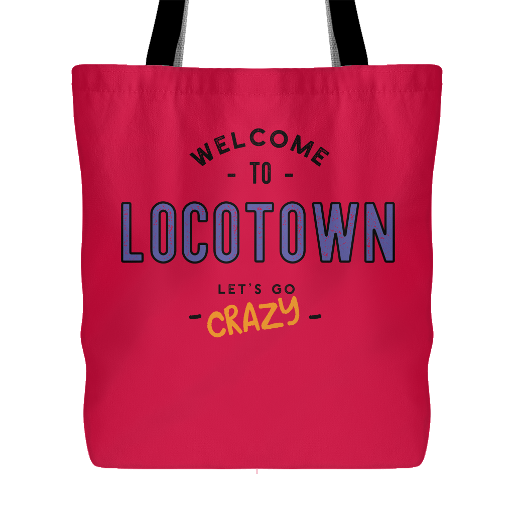 LocoTown Crazy Tote -red