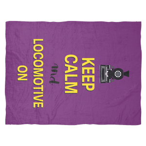Keep Calm Loco Fleece bleacher blanket
