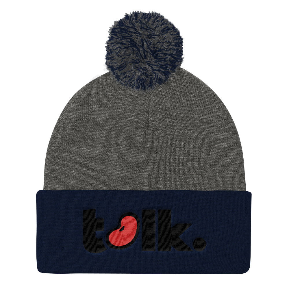Bean Talk Pom Pom Knit Cap