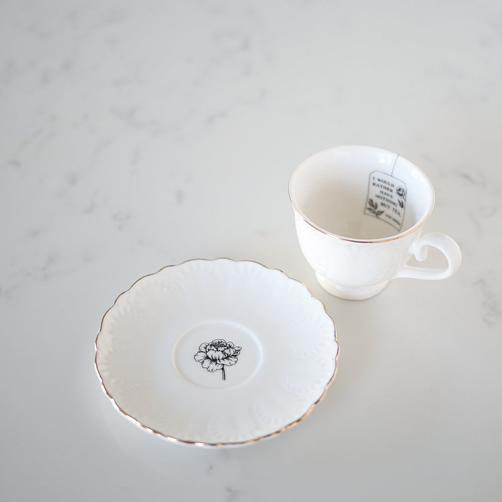 "TEA CUP - ""I'd rather have nothing but tea"" Mini Tea Cup Set"