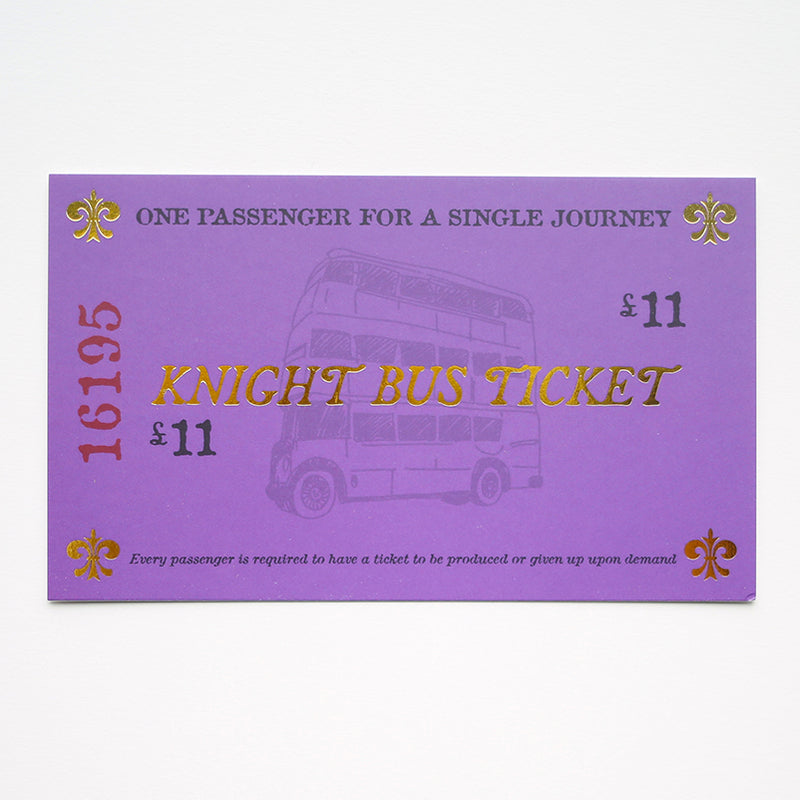 Knight Bus Ticket