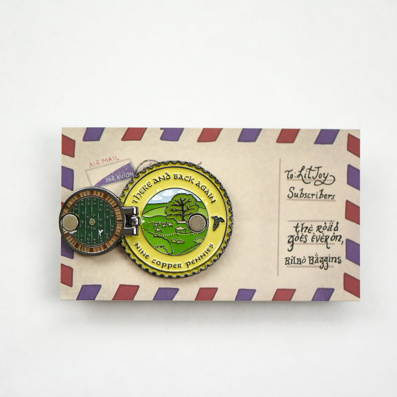 ENAMEL PIN - The Shire Door View