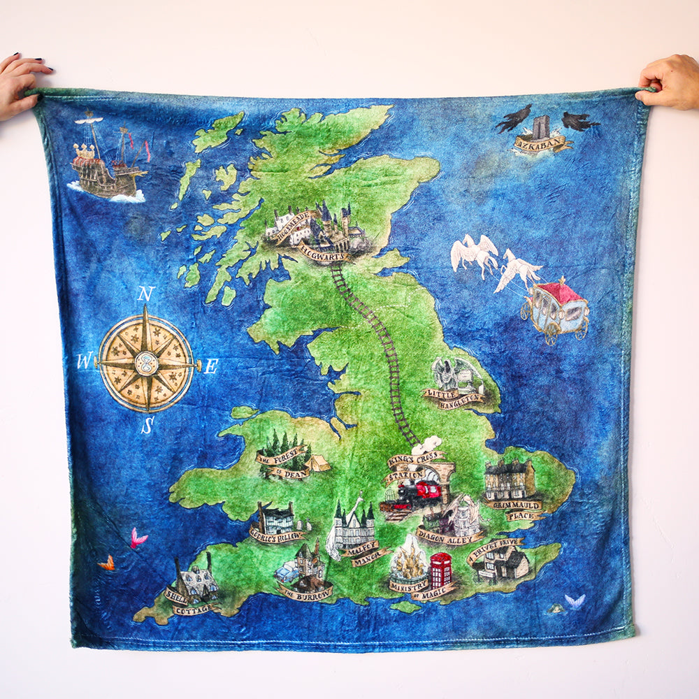 BLANKET - Cuddly Atlas of the English Wizarding World