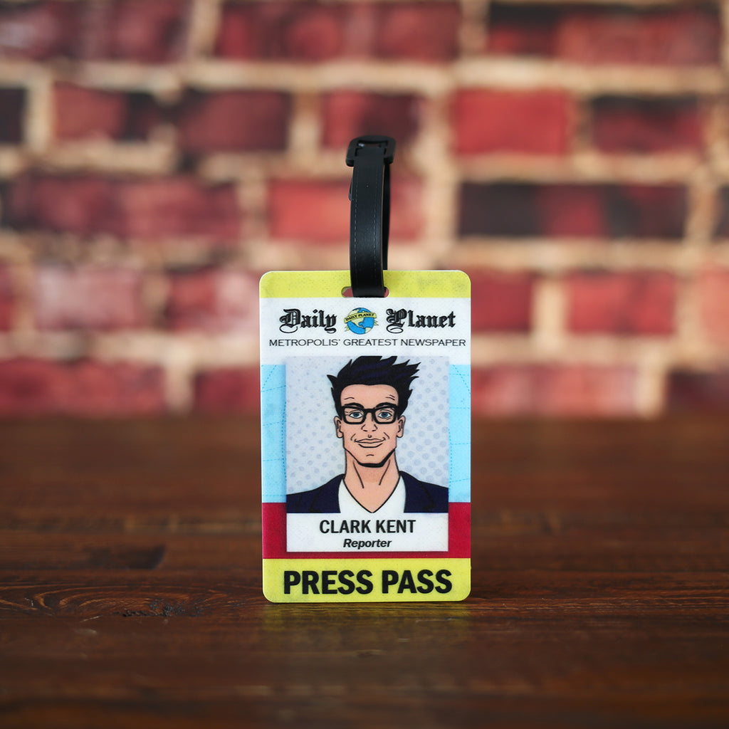 Clark Kent Press Pass Luggage Tag