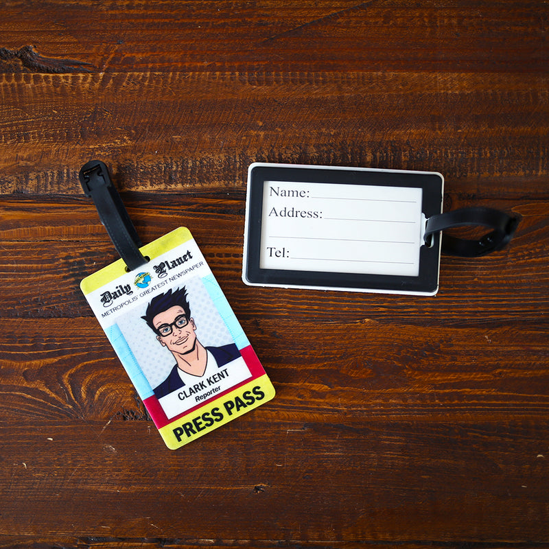 LUGGAGE TAG - Clark Kent Press Pass