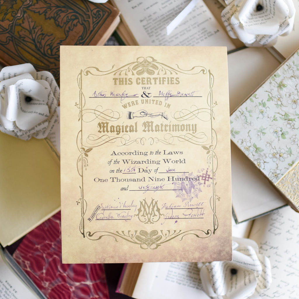 CERTIFICATE - Weasley's Marriage Certificate (Add-On)