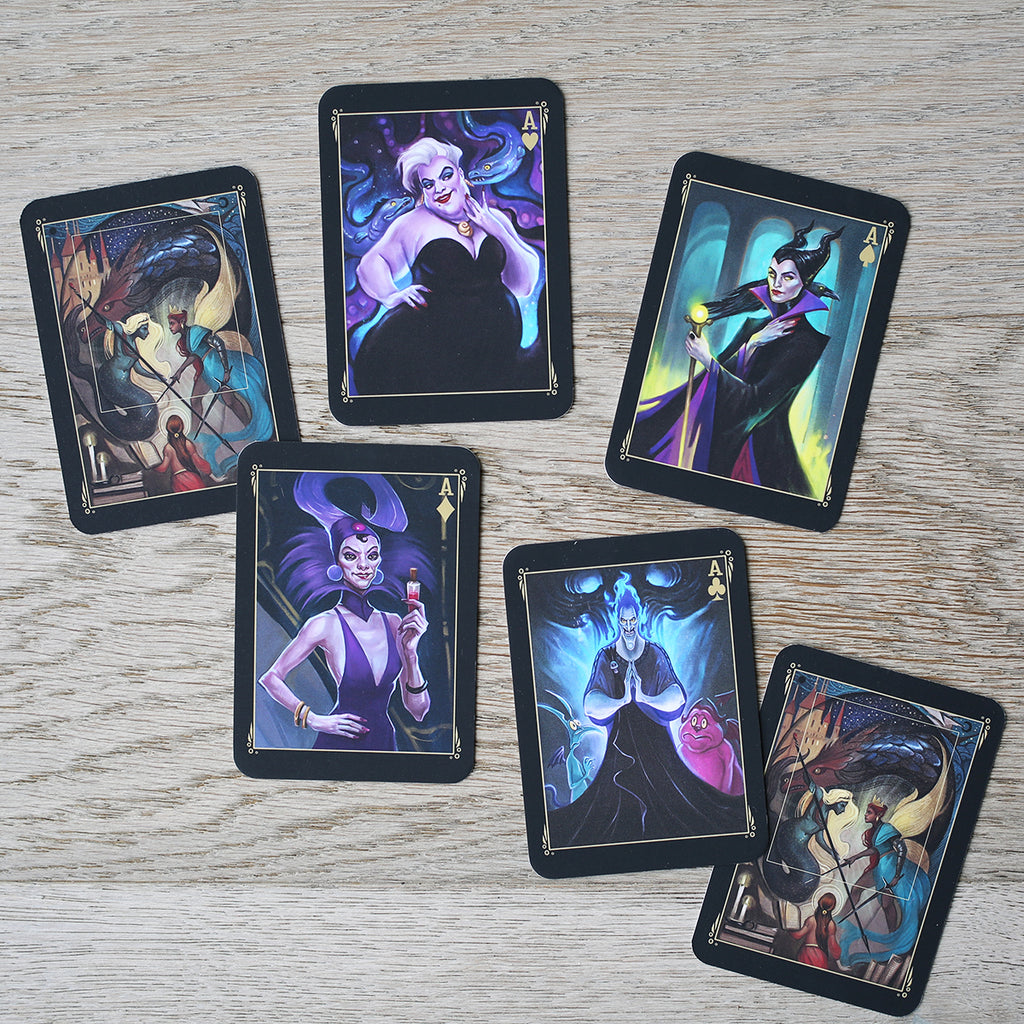 TRADING CARDS - DECK 2 - October Disney Villains (Set of 4)
