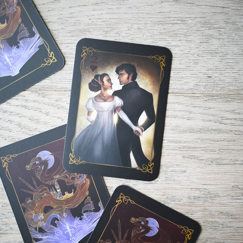 TRADING CARDS - DECK 1 - June Classic Romance (Set of 2)