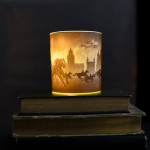 GLASS CANDLE VOTIVE - Winternight