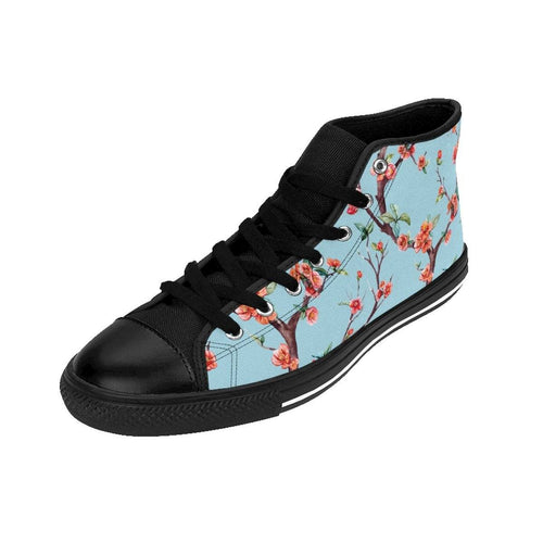 Women's Blue Floral Sneakers