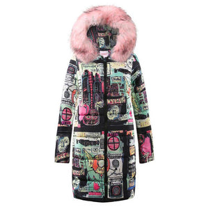 Abstract Hooded Coat