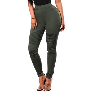 Army Green Moto Jeggings
