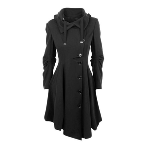 Asymmetric A-Line Coat