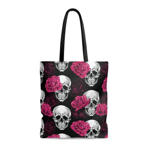 Bags - Rose & Skull Tote Bag