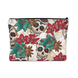 Bags - Tropical Sugar Skulls Makeup Pouch