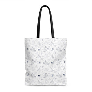 Bags - White Tattoo Print Tote Bag