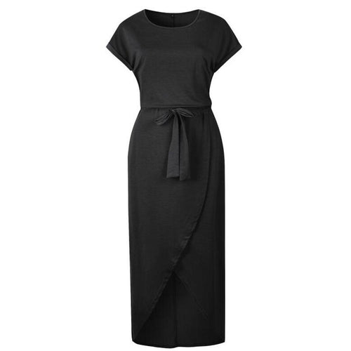 Basic Wrap Midi Dress