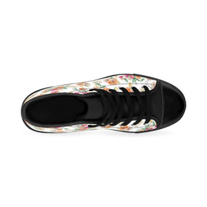 Women's White Floral Sneakers