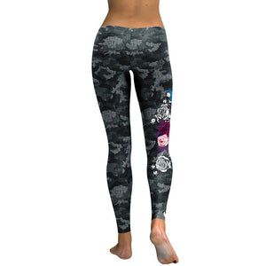 Black Camo Skull Leggings