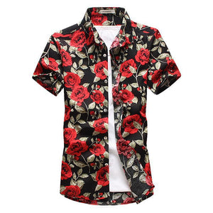 Black Rose Button Up Shirt