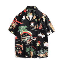 Black Hawaiian Button Up