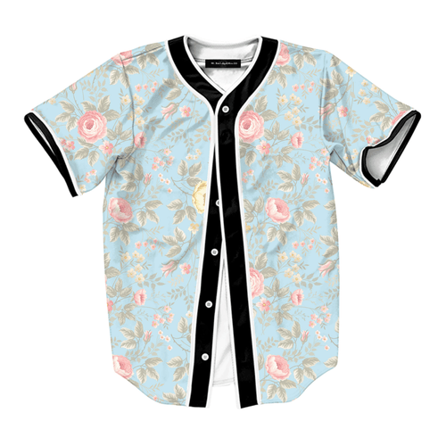 Light Blue Floral Jersey