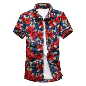 Blue Rose Button Up Shirt