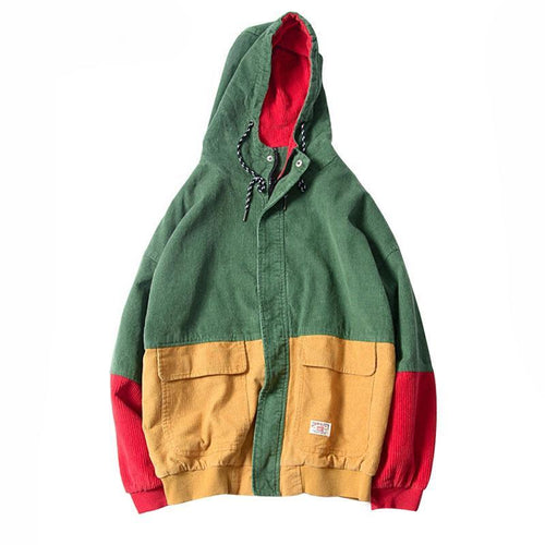 Colorblock Corduroy Jacket