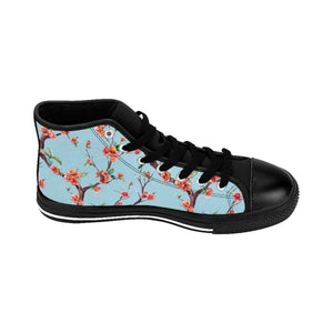 Men's Blue Floral Sneakers