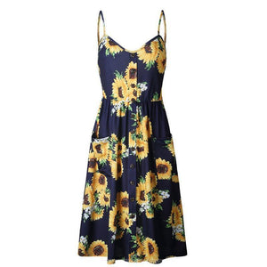 Daisy Print Sun Dress
