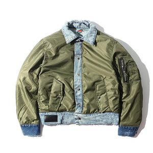 Denim Trim Bomber