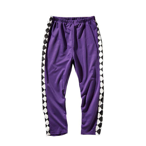 Diamond Striped Jogger Pants