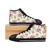 Men's White Floral Sneakers