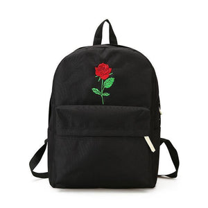 Embroidered Rose Backpack