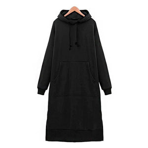 Extra Long Hoodie Dress