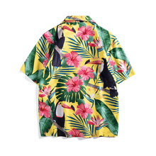 Floral Toucan Button Up
