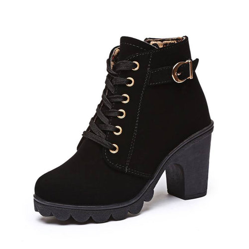 Gold Eyelet Ankle Boot